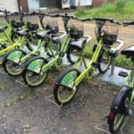 Public bicycles rental for just 200Y per 40min.
