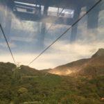 Périple en téléphérique au dessus du Mont Hakone.